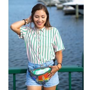 Retro Inspired Lounge Button Down